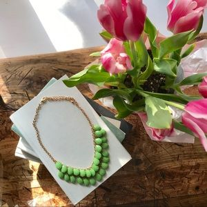 Spring Time Green and Gold Teardrop Necklace 💧